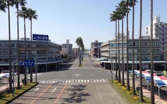 南宮崎駅からの眺望