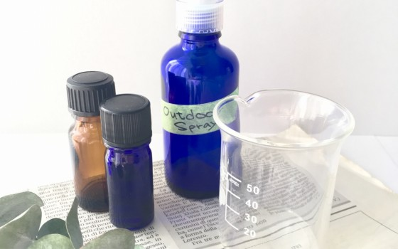 材料はハッカ油と水!安全な虫除けスプレー